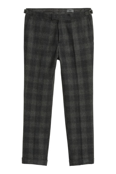 Suit trousers Slim fit - Grey/Black checked -  | H&M