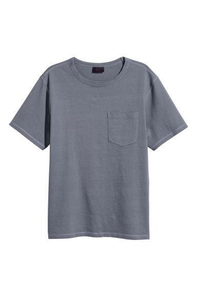 Wide T-shirt - Grey-blue -  | H&M