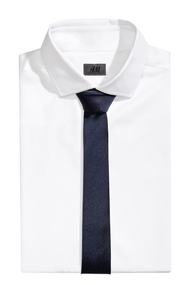 Silk tie - Dark blue -  | H&M CN