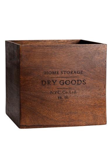 Large wooden box - Dark brown - Home All | H&M IE