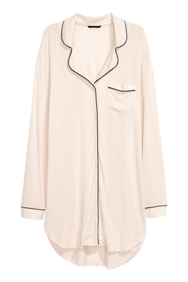 Jersey nightshirt - Powder beige - Ladies | H&M IE