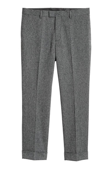 Pantalon de costume Slim fit - Noir chiné - HOMME | H&M BE
