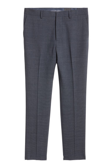 Suit trousers Skinny fit - Dark blue/Small checked -  | H&M CN
