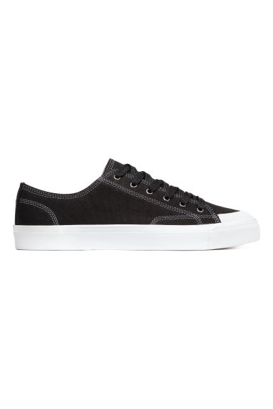 Cotton canvas trainers - Black - Men | H&M
