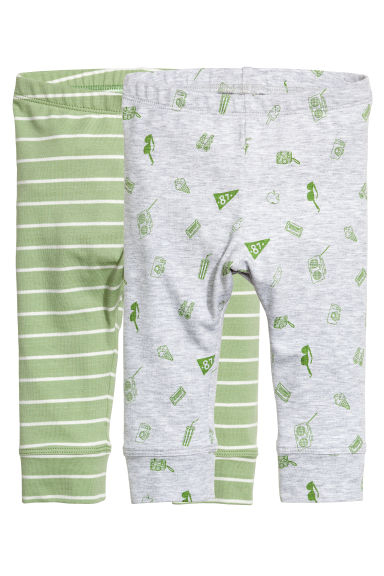 2-pack jersey trousers - Light green -  | H&M