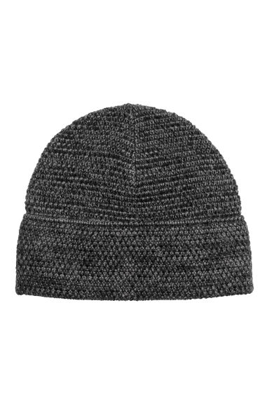 Fleece-lined hat - Dark grey marl -  | H&M