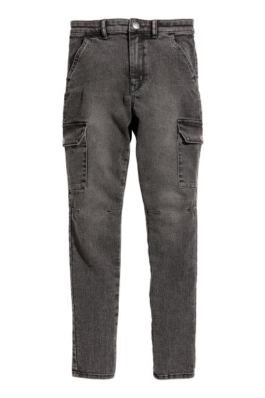 Cargo trousers - Black washed out -  | H&M CN