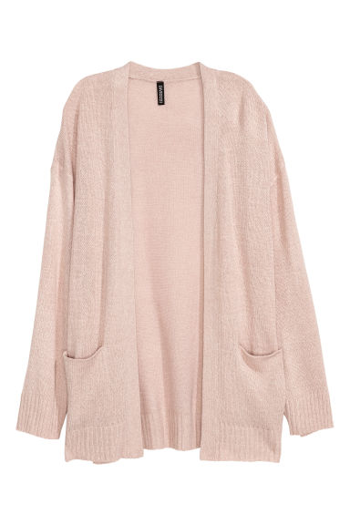 Knitted cardigan - Powder pink -  | H&M