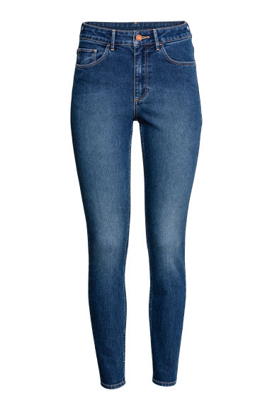 Skinny High Ankle Jeans - Azul denim oscuro -  | H&M ES