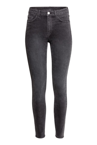Skinny High Ankle Jeans - Dark grey denim - Ladies | H&M