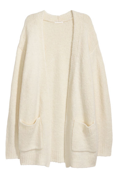 Knitted cardigan - Natural white -  | H&M