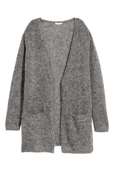Mohair-blend cardigan - Dark grey marl - Ladies | H&M