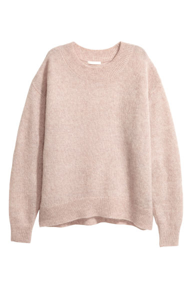 Mohair-blend jumper - Light pink -  | H&M