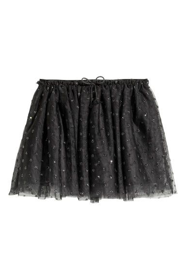 Tulle skirt - Black/Spotted - Kids | H&M CN