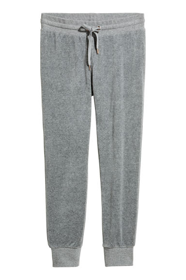 Velour joggers - Grey - Ladies | H&M IE