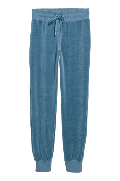 Joggers in velour - Blu nebbia - DONNA | H&M IT
