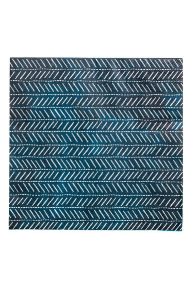 Paper napkins - Dark blue/Patterned -  | H&M CN