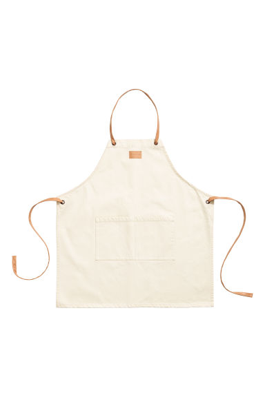 Cotton twill apron - Natural white - Home All | H&M CN
