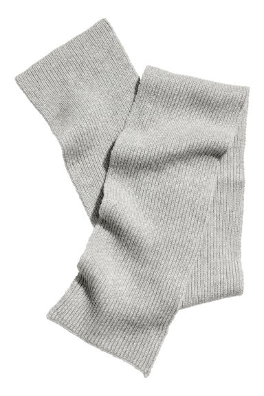 Ribbed wool scarf - Grey marl -  | H&M IE