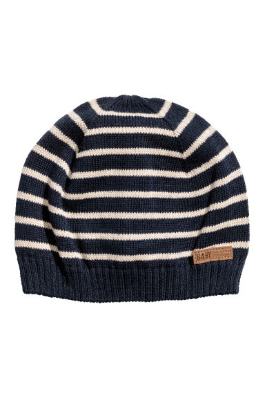 Knitted hat - Dark blue -  | H&M
