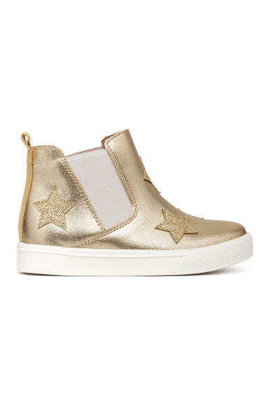 Chelsea boots with appliqués - Gold/Stars -  | H&M