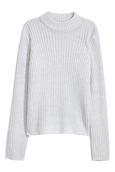 Ribbed jumper - Light grey -  | H&M CN
