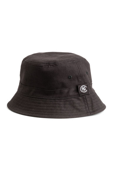 Cotton twill fisherman's hat - Black -  | H&M GB