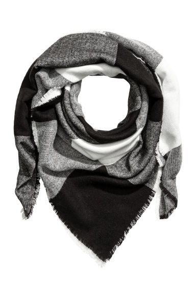 Scarf - White/Black - Ladies | H&M CN