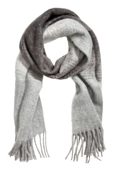Woven scarf - Black/Grey - Ladies | H&M