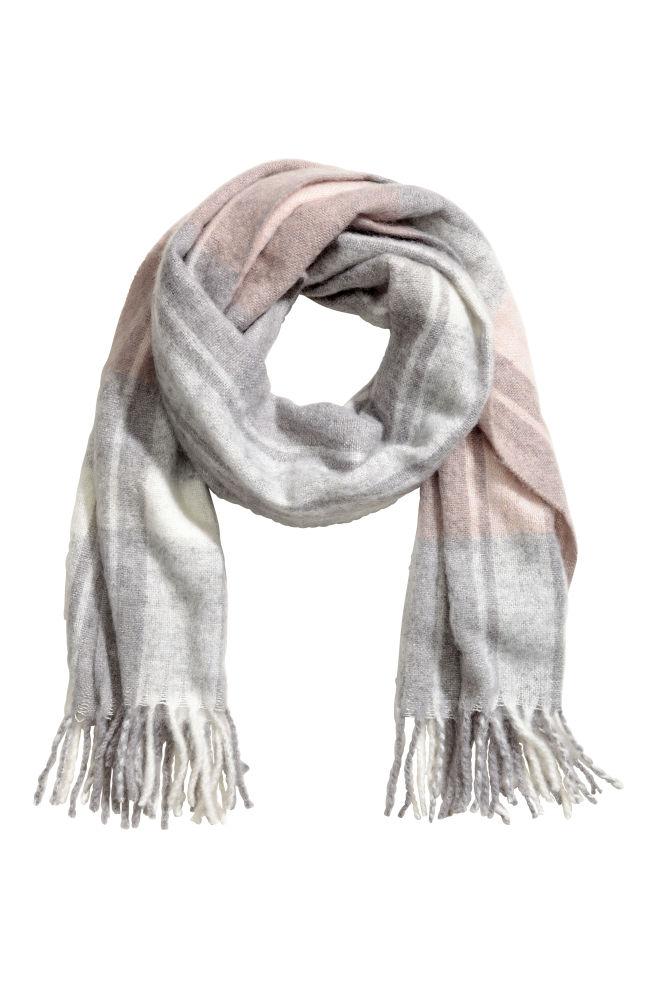 6be3def071c98 Écharpe tissée - Rose poudré/gris/carreaux - FEMME | H&M ...