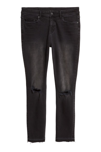 H&M+ Slim Regular Jeans - Black/Washed - Ladies | H&M