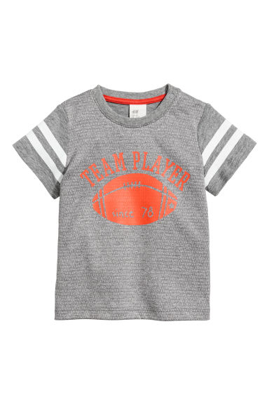 T-shirt with mesh - Grey - Kids | H&M CN
