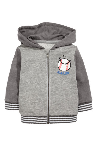 Hooded jacket - Grey marl - Kids | H&M CN