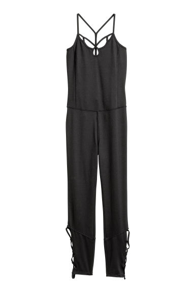 Yoga jumpsuit - Black - Ladies | H&M CN