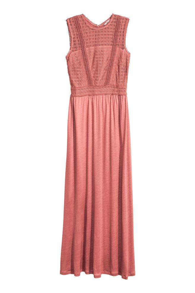 588334a2f5c08a Langes Kleid mit Spitze - Vintagerosa - Ladies | H&M ...