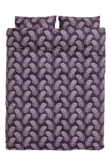 Patterned duvet cover set - Purple - Home All | H&M GB