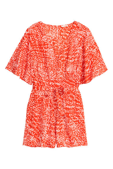 Playsuit - Coral/Patterned - Ladies | H&M