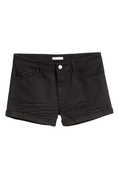 Short twill shorts - Black - Ladies | H&M GB