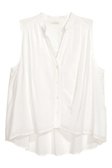Sleeveless blouse - White - Ladies | H&M