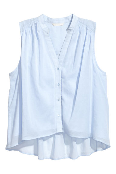 Sleeveless blouse - Blue -  | H&M