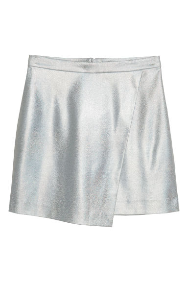 Wrapover skirt - Silver-coloured - Ladies | H&M