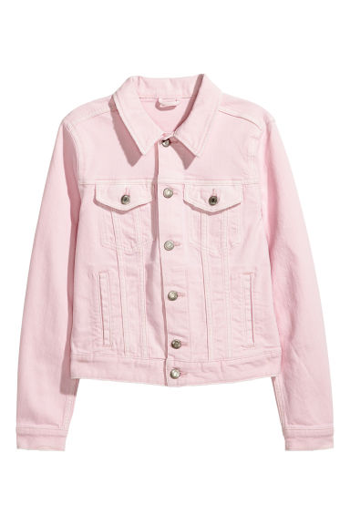 Denim jacket - Light pink - Ladies | H&M IE