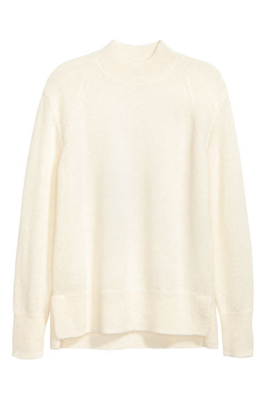 Mohair-blend jumper - Natural white -  | H&M