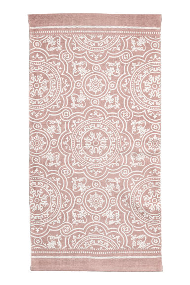 Patterned cotton rug - Dusky pink -  | H&M GB