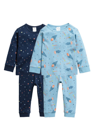2-pack pyjamas - Blue/Stars - Kids | H&M GB