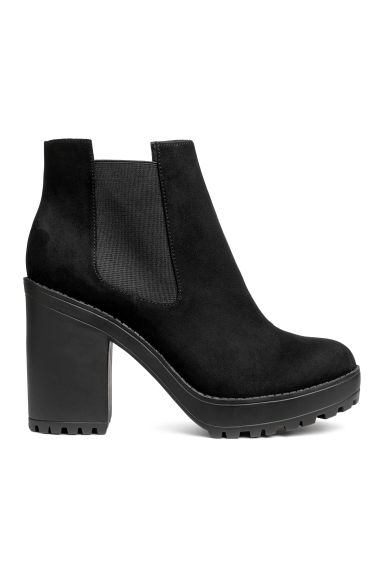 Platform ankle boots - Black - Ladies | H&M CN