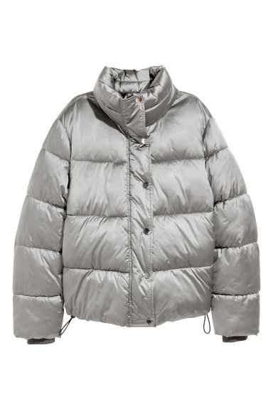 Padded jacket - Silver-coloured -  | H&M