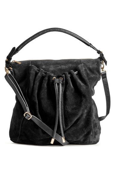 Suede hobo bag - Black -  | H&M GB