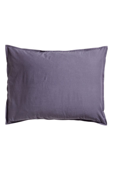 Federa in cotone lavato - Viola - HOME | H&M IT