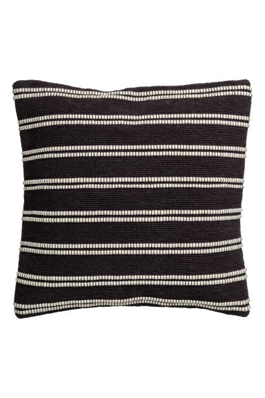 Jacquard-weave cushion cover - Anthracite grey/Striped - Home All | H&M CN